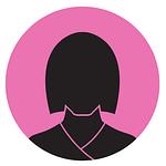 Silhuett av en kvinna med rosa bakgrundsfärg